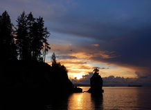 Siwash Rock, Stanley Park Stock Photos