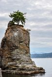 The Siwash Rock at Stanley Park in downtown Vancouver stock image