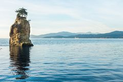 Siwash Rock. At Stanley Park Seawall, Vancouver Stock Photography