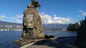 Siwash Rock in Stanley Park, Vancouver Royalty Free Stock Photo