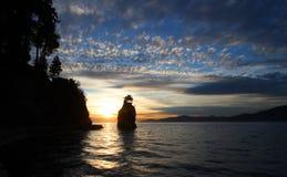 Siwashrots dichtbij Vancouver Royalty-vrije Stock Afbeeldingen