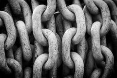 Siwieje łańcuchy Zdjęcie Stock