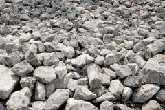 Siwieje kamienie i kołysa tekstury tło Zdjęcie Stock