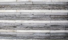 Siwieje kamienne cegły z rzędu obrazy royalty free