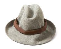 Siwieje odczuwany fedora z brown hatband obrazy royalty free