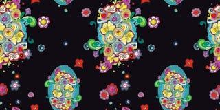 Siwieje wzór z błękitnym bellflower ilustracja wektor