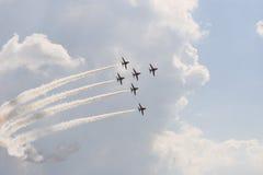Six aéronefs Images libres de droits