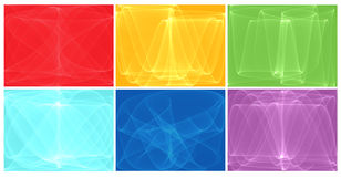 Six abstract backgrounds Royalty Free Stock Photos