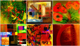 Six Abstracts Royalty Free Stock Photo