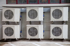 Six air conditioner. Was place neatly Methodical royalty free stock photo