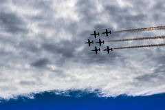 Six  Aircrafts  in  the  sky Royalty Free Stock Image
