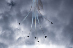 Six  Aircrafts  in  the  sky Stock Photos