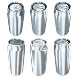 Six aluminum cans Royalty Free Stock Photography