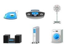 Six appareils réglés Photo stock