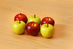 Six apples Stock Photography