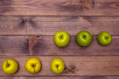 Six Apples on the table Royalty Free Stock Photo
