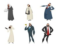 Six arab businessmen Royalty Free Stock Photo