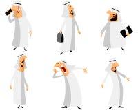 Six arabs set Royalty Free Stock Image