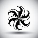 Six arrows loop conceptual icon, special abstract new idea vecto Royalty Free Stock Image