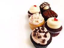 Six assorted cup cakes Royalty Free Stock Photo