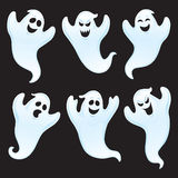 Six Assorted Ghost Characters Royalty Free Stock Photography