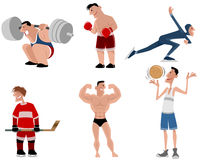 Six athletes set Royalty Free Stock Photo