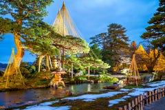 Six Attributes Garden. Night view of kenrokuen the Six Attributes Garden Royalty Free Stock Images
