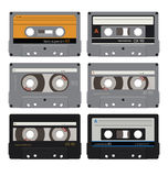 Six audiocassettes 1 Stock Photo