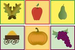 Six Autumn Graphics Royalty Free Stock Photos