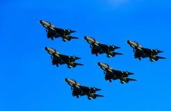 Six avions à réaction de bombardier Photos stock