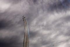 Six avions dans le ciel Photos libres de droits