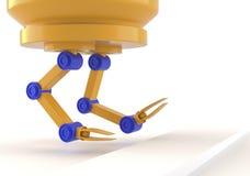 Six-axis industrial robot arm Stock Photos
