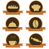 Six bakery icons Stock Image