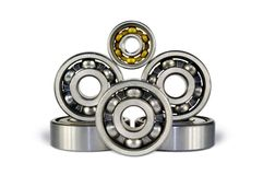 Six ball bearings Royalty Free Stock Image