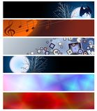 Six banners for website 8 Stock Photography