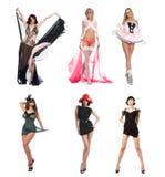 Six beautiful girls stock photo