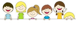 Six best friends. Rejoice together Royalty Free Stock Photography