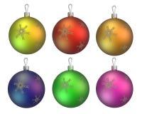 Six billes d'arbre de Noël Image stock