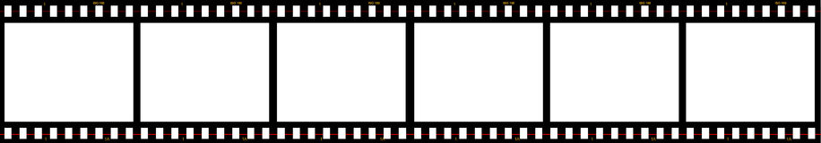 Six blank film frames Royalty Free Stock Photos