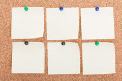 Six blank post it notes Royalty Free Stock Image