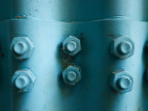 Six Blue coated nut dirty top view Stock Photography