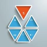 Six Blue Orange Triangles PiAd Stock Photos