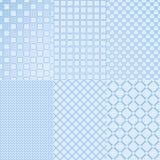 Six blue seamless Royalty Free Stock Image
