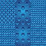 Six blue seamless Stock Image