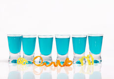 Six Blue Shots Royalty Free Stock Images