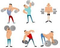 Six bodybuilders set Stock Photos