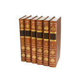 Six book volumes Stock Images