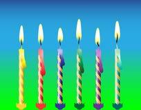 Six bougies Photographie stock libre de droits