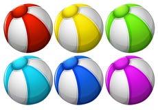 Six boules colorées illustration libre de droits
