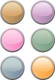 Six boutons doux-colorés de Web illustration de vecteur
